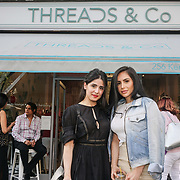 Shay hoshiar @aspoonfulloffashion and Camila Morales @camilaxmorales Avecmoilamuse.com attends the Threads & Co Beauty launches permanent retail concept store everything from coffee to beauty to retail therapy on 24th May 2017. by See Li