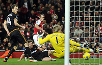 Barclays Premier League  Arsenal v Wolves<br />Wayne Hennessey saves from Robin Van Persie