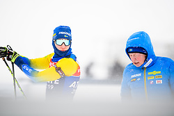 March 8, 2019 - –Stersund, Sweden - 190308 Martin Ponsiluoma and Wolfgang Pichler, head coach of Sweden at the men's training session during the IBU World Championships Biathlon on March 8, 2019 in Östersund..Photo: Petter Arvidson / BILDBYRÃ…N / kod PA / 92246 (Credit Image: © Petter Arvidson/Bildbyran via ZUMA Press)