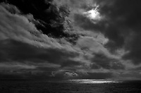 Dark Clouds in the Afternoon from the aft deck of the MV World Odyssey.  Image taken with a Leica T camera and 11-23 mm lens (ISO 100, 23 mm, f/14, 1/2000 sec). Processed with Capture One Pro (including conversion to B&W), and Photoshop CC.