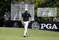 August 10, 2018 - St. Louis, Missouri, United States - Sergio Garcia lines up a putt on the 9th green during the second round of the 100th PGA Championship at Bellerive Country Club. (Credit Image: © Debby Wong via ZUMA Wire)