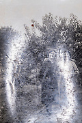 vintage outdoors portrait photo with light reflection 1933 France