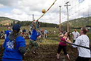 Teams at the 2011 Mud Volleyball Tournament in Laclede, ID sponsored by the Kodiak Bar. .(©Matt Mills McKnight/2011)