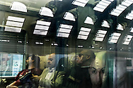 Milan, Central Station: passengers on the train