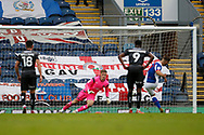 3-2, goal scored by Adam Armstrong of Blackburn Rovers  during the EFL Cup match between Blackburn Rovers and Doncaster Rovers at Ewood Park, Blackburn, England on 29 August 2020.