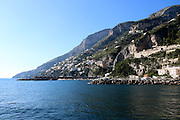 Cityscape of the cliffs of Amalfi, Campania, Italy