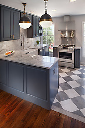 333_11th_Kitchen with blue grey painted cabinets
