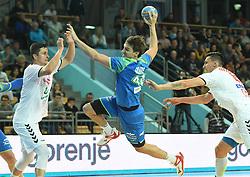 Sebastian Skube of Slovenia during friendly handball match between Slovenia and Srbija, on October 27th, 2019 in Športna dvorana Lukna, Maribor, Slovenia. Photo by Milos Vujinovic / Sportida