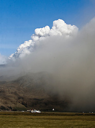 The effects of the dust cloud from the Eyjafjallajoekull erupting volcano in Iceland. .©2010 Michael Schofield. All Rights Reserved.