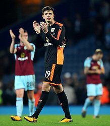 Nick Pope of Burnley thanks the fans - Mandatory by-line: Matt McNulty/JMP - 23/08/2017 - FOOTBALL - Ewood Park - Blackburn, England - Blackburn Rovers v Burnley - Carabao Cup - Second Round