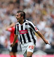 Photo: Rich Eaton.<br /> <br /> West Bromwich Albion v Barnsley. Coca Cola Championship. 01/09/2007. West Bromwich Albion's Filipe Teixeira celebrates after scoring the opening goal of the game.