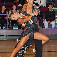 Stefano Oradei and Veera Kinnunen from Sweden perform their dance during the Amateur Latin-American competition of the International Championships held in Brentwood Leasure Centre, Brentwood, United Kingdom. Tuesday, 11. October 2011. ATTILA VOLGYI