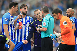 15 October 2017 -  Premier League - Brighton and Hove Albion v Everton - Wayne Rooney of Everton complains to referee Michael Oliver - Photo: Marc Atkins/Offside