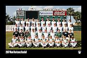 2007 Miami Hurricanes Baseball Team Photo