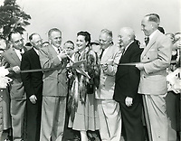 1953 Ribbon cutting ceremony for the new 101 Hollywood Freeway in the Cahuenga Pass