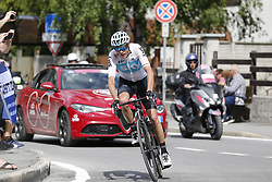 May 25, 2018 - Prato Nevoso, ITALY - British Chris Froome of Team Sky pictured in action during stage 19 of the 101st edition of the Giro D'Italia cycling tour, 184km from Venaria Reale to Bardonecchia, Italy, Friday 25 May 2018...BELGA PHOTO YUZURU SUNADA FRANCE OUT (Credit Image: © Yuzuru Sunada/Belga via ZUMA Press)