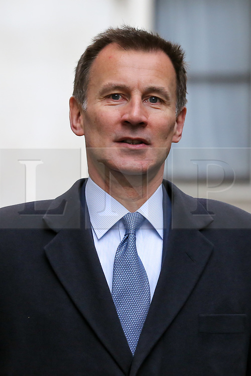 © Licensed to London News Pictures. 19/03/2019. London, UK. Jeremy Hunt - Foreign Secretary arrives in Downing Street for the weekly Cabinet meeting. Photo credit: Dinendra Haria/LNP