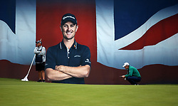 Justin Rose on the 18th during day two of the British Masters at Walton Heath Golf Club, Surrey.
