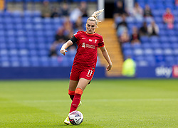 BIRKENHEAD, ENGLAND - Sunday, August 29, 2021: Liverpool's Melissa Lawley during the FA Women's Championship game between Liverpool FC Women and London City Lionesses FC at Prenton Park. London City won 1-0. (Pic by Paul Currie/Propaganda)