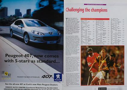 All Ireland Senior Hurling Championship Final,.12.09.2004, 09.12.2004, 12th September 2004,.Senior Cork 0-7, Kilkenny 0-9,.Minor Kilkenny 1-18 ,  Galway 3-12 (draw),.12092004AISHCF,.Peugeot,