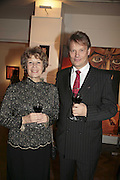 Maija-Liisa Marton and Hannu Takkula, The Real Dream, private view for an exhibition of work by Michael Rogatchi. Cork St. London.  5 December 2006. ONE TIME USE ONLY - DO NOT ARCHIVE  © Copyright Photograph by Dafydd Jones 248 CLAPHAM PARK RD. LONDON SW90PZ.  Tel 020 7733 0108 www.dafjones.com