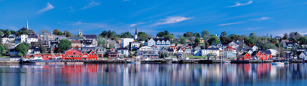 Early Morning Calm, Lunenburg Waterfront With Reflections