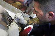 30 settembre 2006 : Campo d'Azione 2006 di Forza Nuova a Marta (VT).Oltre al programma di incontri Ë stata riservata una zona per i tatooes  a Marta meeting of forza nuova, raduno forza nuova