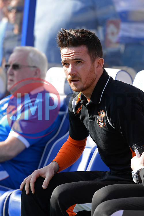 Blackpool's manager Barry Ferguson  - Photo mandatory by-line: Mitchell Gunn/JMP - Tel: Mobile: 07966 386802 29/03/2014 - SPORT - FOOTBALL - Loftus Road - London - Queens Park Rangers v Blackpool - Championship