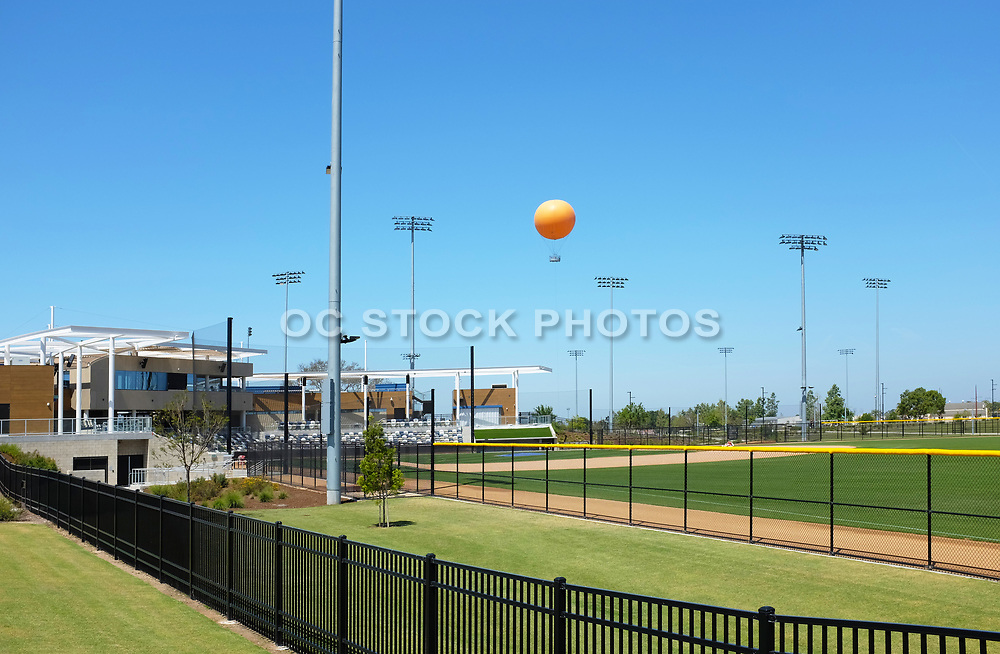 The Balloon Ride Rising Above the Championship Baseball Stadium at the Orange County Great Park