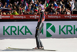 Andreas Wellinger of Germany reacts during the Ski Flying Hill Men's Team Competition at Day 3 of FIS Ski Jumping World Cup Final 2017, on March 25, 2017 in Planica, Slovenia. Photo by Vid Ponikvar / Sportida