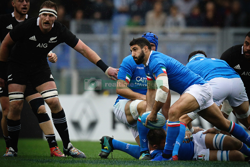 November 24, 2018 - Roma, RM, Italy - Tito Tebaldi of Italy during the Cattolica Test Match 2018 between Italy and All Blacks at Olympic Stadium on November 24, 2018 in Rome, Italy. (Credit Image: © Danilo Di Giovanni/NurPhoto via ZUMA Press)