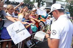 September 7, 2018 - Newtown Square, Pennsylvania, United States - Rickie Fowler signs autographs after the second round of the 2018 BMW Championship. (Credit Image: © Debby Wong/ZUMA Wire)