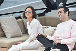 Michelle Rodriquez is seen having lunch with Ed Westwick at the Eden Roc hotel in Antibes. 21 May 2019 Pictured: Michelle Rodriquez , Ed Westwick. Photo credit: Neil Warner/MEGA TheMegaAgency.com +1 888 505 6342