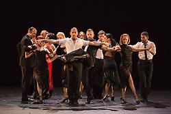 "© Licensed to London News Pictures. 09/06/2015. London, UK. Sidi Larbi Cherkaoui's contemporary tango production ""Milonga"" returns to Sadler's Wells from 9 to 13 June 2015. Photo credit : Bettina Strenske/LNP"