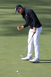 April 8, 2018 - Augusta, Georgia, U.S. - JORDAN SPIETH birdies fifteen to go 13 under during the final round of the Masters at Augusta National Golf Club on Sunday. (Credit Image: © Curtis Compton/TNS via ZUMA Wire)