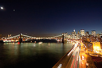 night view from manhattan bridge - New York City in October 2008