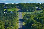 STeep hills on highway <br />Saint-Marcellin<br />Quebec<br />Canada