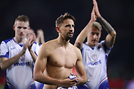 Gaston Ramirez of Sampdoria together with team mates walks towards the travelling fans to salute them after the final whistle of the Serie A match at Stadio Grande Torino, Turin. Picture date: 8th February 2020. Picture credit should read: Jonathan Moscrop/Sportimage