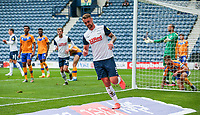 Preston North End's Patrick Bauer celebrates scoring his side's third goal <br /> <br /> Photographer Alex Dodd/CameraSport<br /> <br /> The Carabao Cup First Round - Preston North End v Mansfield Town - Saturday 29th August 2020 - Deepdale - Preston<br />  <br /> World Copyright © 2020 CameraSport. All rights reserved. 43 Linden Ave. Countesthorpe. Leicester. England. LE8 5PG - Tel: +44 (0) 116 277 4147 - admin@camerasport.com - www.camerasport.com