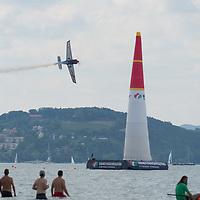 Red Bull Air Race held over lake balaton in Zamardi, Hungary on July 14, 2019. ATTILA VOLGYI
