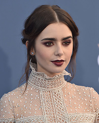 Stars attend the 22nd Annual Critics Choice Awards in Santa Monica, California. 11 Dec 2016 Pictured: Lily Collins. Photo credit: Bauer Griffin / MEGA TheMegaAgency.com +1 888 505 6342
