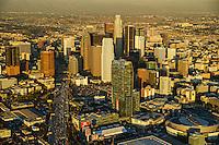 Downtown Los Angeles featuring Harbor Freeway & LA Live
