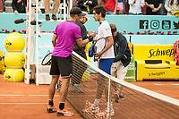 Croatian Borna Coric French Pierre-Hugues Herbert during Mutua Madrid Open Tennis 2017 at Caja Magica in Madrid, May 10, 2017. Spain.<br /> (ALTERPHOTOS/BorjaB.Hojas)