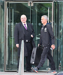 Manchester United manager Jose Mourinho leaves The Lowry Hotel at 7.40am on Friday morning and heads to the Carrington Training Complex just 12 hours after arriving back at 7.30pm the night before. Friday 23rd September 2016... 7.40am.......