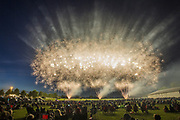 Spectators watch fireworks show at the Monroe County Fairgrounds. (Photo by Jeremy Hogan)