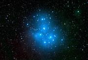 Pleiadene (Messier 45) in the constellation Taurus
