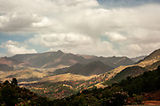 Landscape and scenery near the town of Asni is a small town in the foothills of the High Atlas mountains near Marrakesh, Morocco.