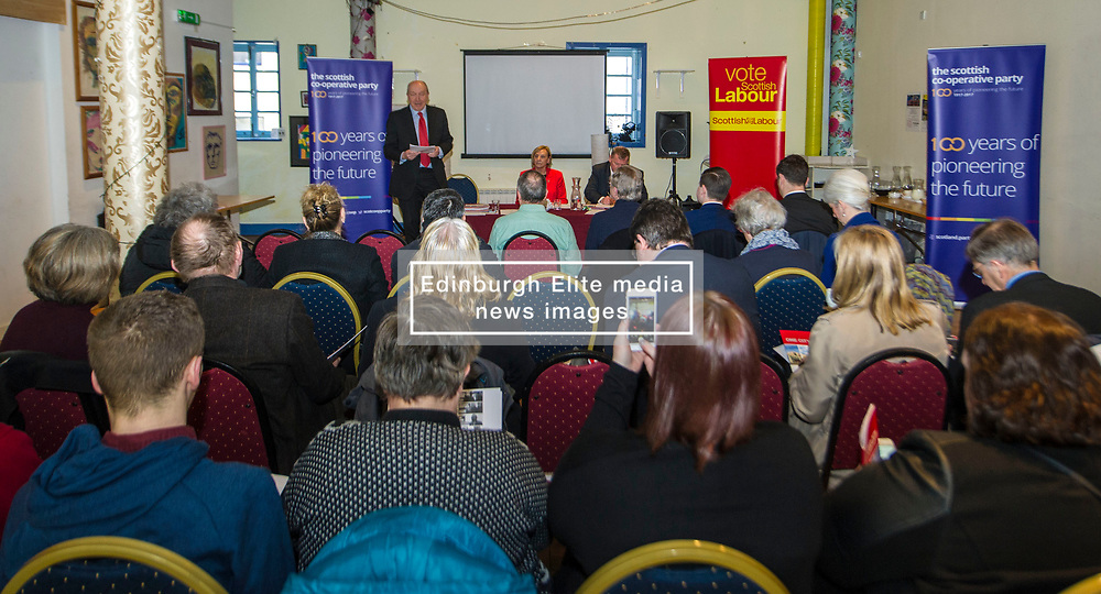 Pictured: <br /> Scottish Labour deputy leader Alex Rowley was joined by Edinburgh City Council leader Andrew Burns at the Serenity Cafe in Edinburgh today to launch the party's local government election manifesto. <br /> Ger Harley   EEm 21 March 2017