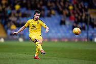 Jamie Hanson of Oxford United crosses the ball during the EFL Sky Bet League 1 match between Oxford United and Peterborough United at the Kassam Stadium, Oxford, England on 16 February 2019.