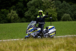 Police during 2nd Stage of 27th Tour of Slovenia 2021 cycling race between Zalec and Celje (147 km), on June 10, 2021 in Slovenia. Photo by Vid Ponikvar / Sportida